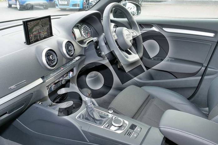 Image two of this 2019 Audi A3 Diesel Sportback Diesel 35 TDI Black Edition 5dr S Tronic in Nano Grey Metallic at Worcester Audi