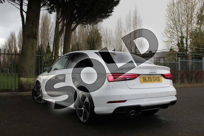 Image three of this 2019 Audi A3 Diesel Saloon Diesel 30 TDI 116 Black Edition 4dr in Ibis White at Coventry Audi