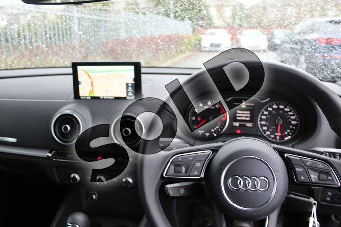 Image six of this 2019 Audi A3 Diesel Saloon Diesel 30 TDI 116 Black Edition 4dr in Ibis White at Coventry Audi