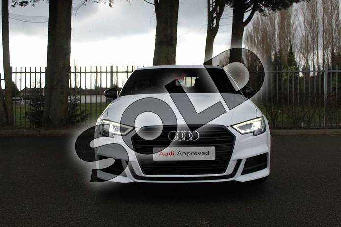 Image seven of this 2019 Audi A3 Diesel Saloon Diesel 30 TDI 116 Black Edition 4dr in Ibis White at Coventry Audi