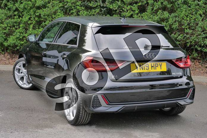 Image three of this 2019 Audi A1 Sportback 35 TFSI S Line 5dr S Tronic in Myth Black Metallic at Worcester Audi