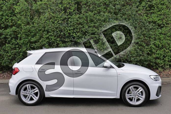 Image four of this 2019 Audi A1 Sportback 35 TFSI S Line 5dr S Tronic in Glacier White Metallic at Worcester Audi