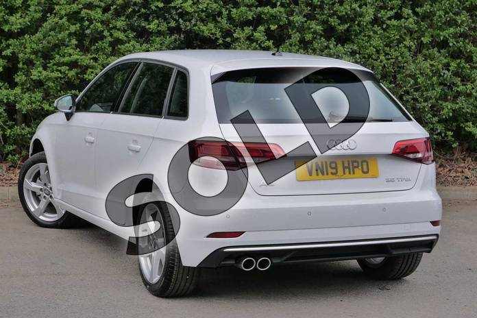 Image three of this 2019 Audi A3 Sportback 35 TFSI Sport 5dr in Glacier White Metallic at Worcester Audi