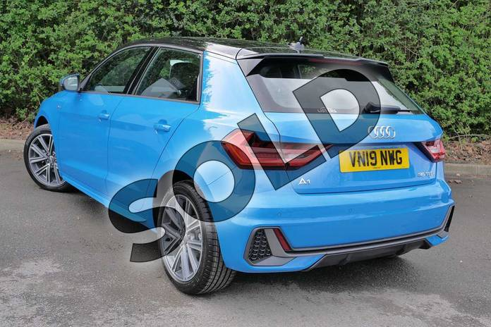 Image three of this 2019 Audi A1 Sportback 35 TFSI S Line 5dr in Turbo Blue at Worcester Audi