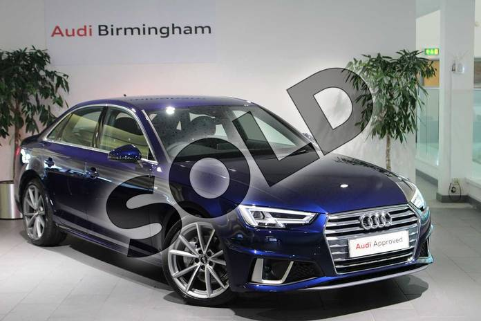 Picture of Audi A4 Diesel 40 TDI S Line 4dr S Tronic in Navarra Blue Metallic