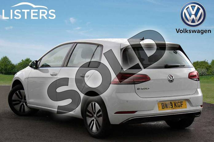 Image three of this 2019 Volkswagen Golf Hatchback 99kW e-Golf 35kWh 5dr Auto in Pure white at Listers Volkswagen Nuneaton