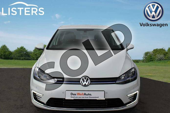 Image seven of this 2019 Volkswagen Golf Hatchback 99kW e-Golf 35kWh 5dr Auto in Pure white at Listers Volkswagen Nuneaton