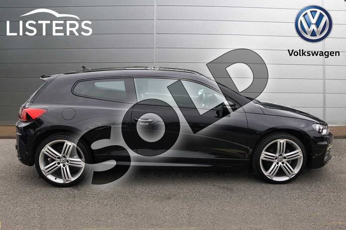 Image four of this 2017 Volkswagen Scirocco Diesel Coupe Diesel 2.0 TDI BlueMotion Tech R Line 3dr in Deep black at Listers Volkswagen Coventry