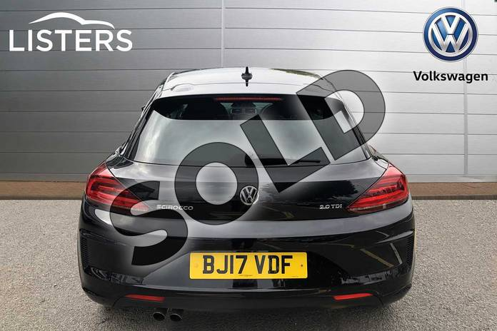 Image nine of this 2017 Volkswagen Scirocco Diesel Coupe Diesel 2.0 TDI BlueMotion Tech R Line 3dr in Deep black at Listers Volkswagen Coventry