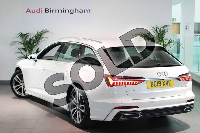Image three of this 2019 Audi A6 Diesel Avant Diesel 40 TDI S Line 5dr S Tronic in Glacier White Metallic at Coventry Audi