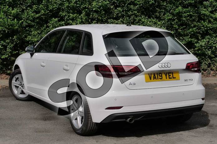 Image three of this 2019 Audi A3 Diesel Sportback Diesel 30 TDI 116 SE Technik 5dr S Tronic in Ibis White at Worcester Audi