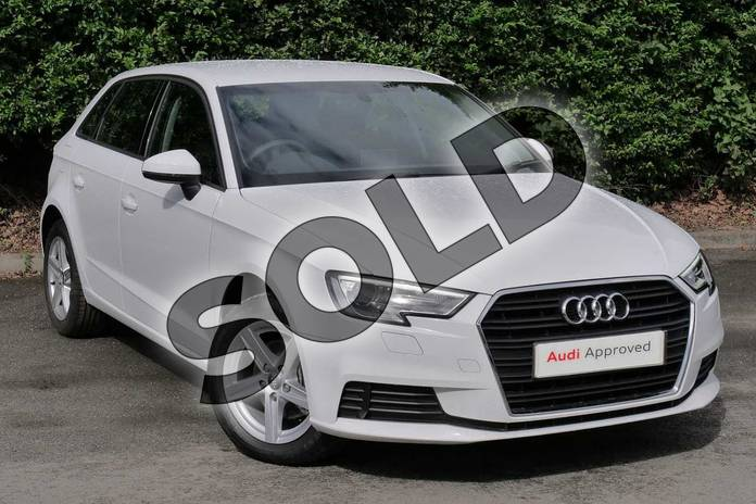 Picture of Audi A3 Diesel 30 TDI 116 SE Technik 5dr S Tronic in Ibis White