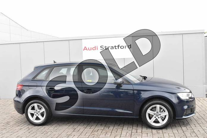 Image four of this 2019 Audi A3 Diesel Sportback Diesel 30 TDI 116 SE Technik 5dr S Tronic in Cosmos Blue Metallic at Stratford Audi