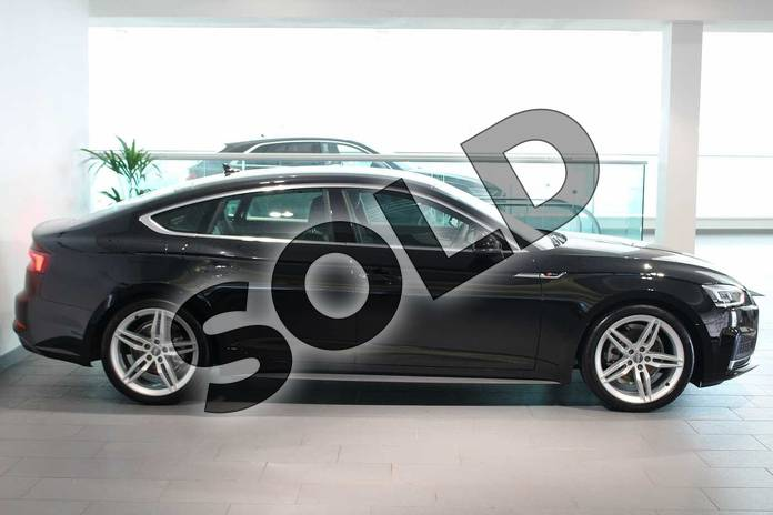 Image four of this 2019 Audi A5 Diesel Sportback 35 TDI S Line 5dr S Tronic in Myth Black Metallic at Birmingham Audi