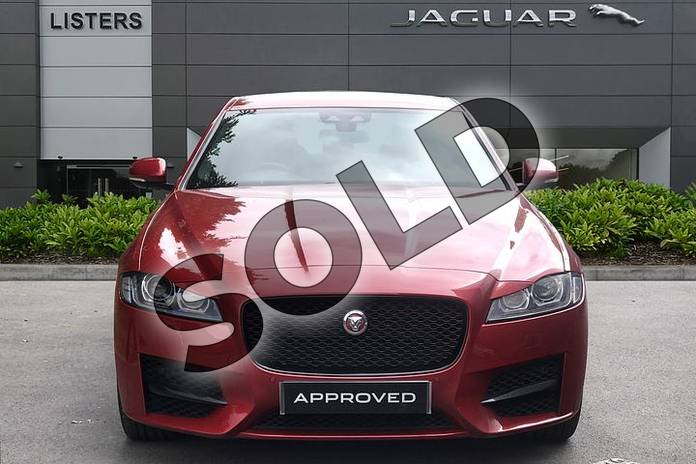 Image seven of this 2019 Jaguar XF Diesel Saloon Diesel 2.0d R-Sport 4dr Auto in Firenze Red at Listers Jaguar Droitwich
