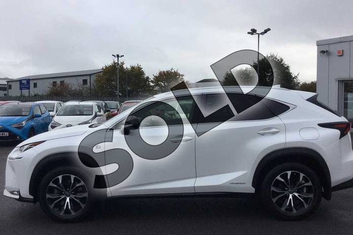 Image three of this 2016 Lexus NX Estate 300h 2.5 F-Sport 5dr CVT in Sonic White at Lexus Cheltenham