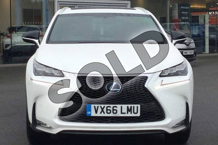 Image four of this 2016 Lexus NX Estate 300h 2.5 F-Sport 5dr CVT in Sonic White at Lexus Cheltenham