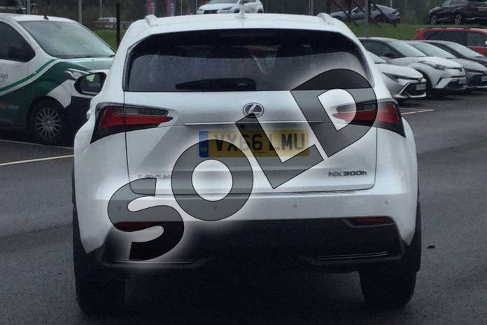 Image five of this 2016 Lexus NX Estate 300h 2.5 F-Sport 5dr CVT in Sonic White at Lexus Cheltenham