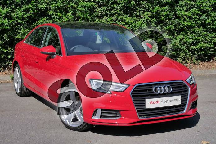 Picture of Audi A3 1.0 TFSI Sport 4dr S Tronic in Tango Red Metallic