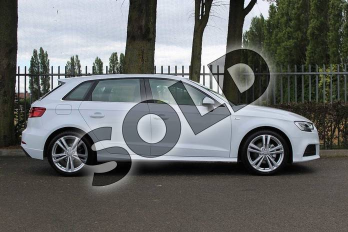 Image four of this 2019 Audi A3 Diesel Sportback Diesel 30 TDI 116 S Line 5dr S Tronic in Glacier White Metallic at Coventry Audi