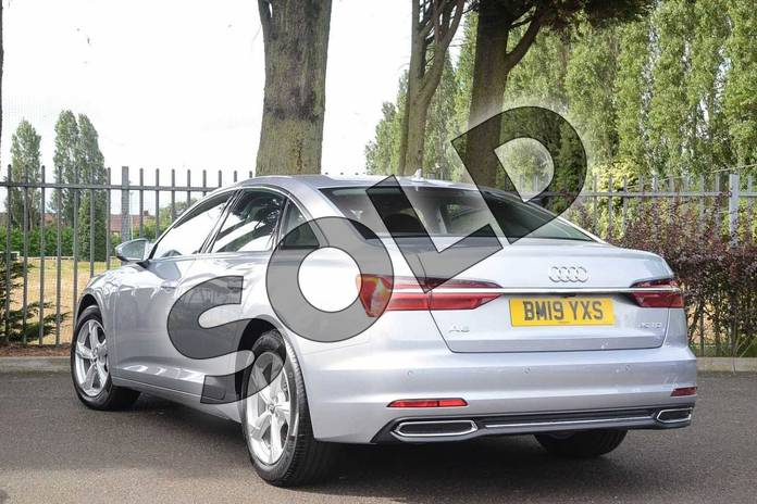 Image three of this 2019 Audi A6 Diesel Saloon Diesel 40 TDI Sport 4dr S Tronic in Floret Silver Metallic at Coventry Audi