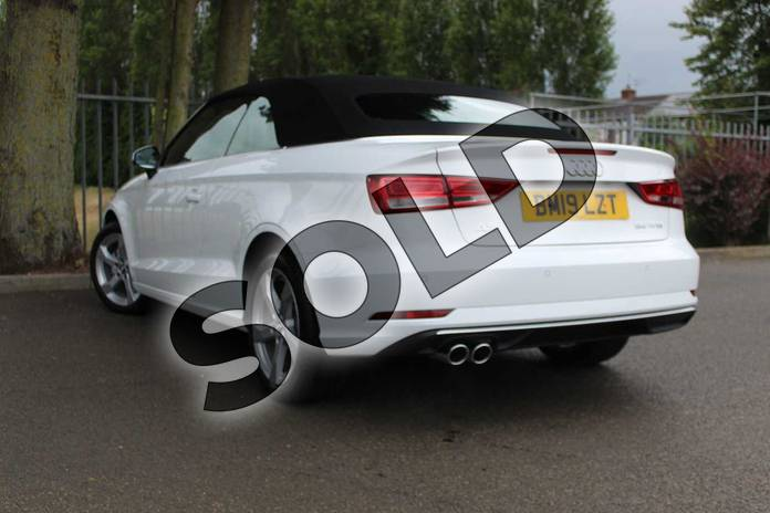 Image three of this 2019 Audi A3 Cabriolet 35 TFSI Sport 2dr in Ibis White at Coventry Audi