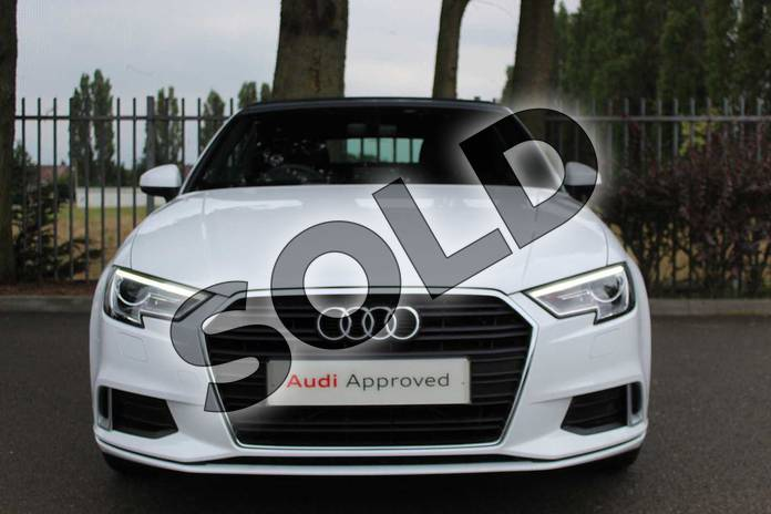 Image seven of this 2019 Audi A3 Cabriolet 35 TFSI Sport 2dr in Ibis White at Coventry Audi