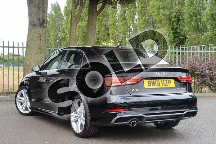 Image three of this 2019 Audi A3 Saloon 30 TFSI S Line 4dr S Tronic in Brilliant Black at Coventry Audi