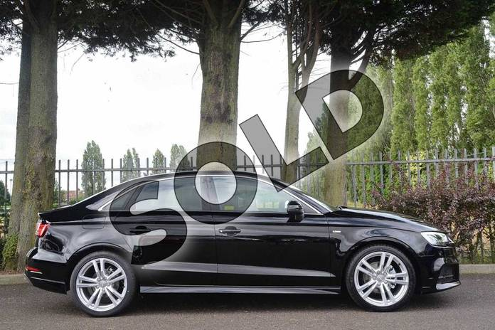Image four of this 2019 Audi A3 Saloon 30 TFSI S Line 4dr S Tronic in Brilliant Black at Coventry Audi