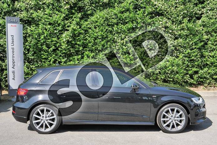 Image four of this 2019 Audi A3 Diesel Sportback Diesel 30 TDI 116 Black Edition 5dr in Myth Black Metallic at Worcester Audi