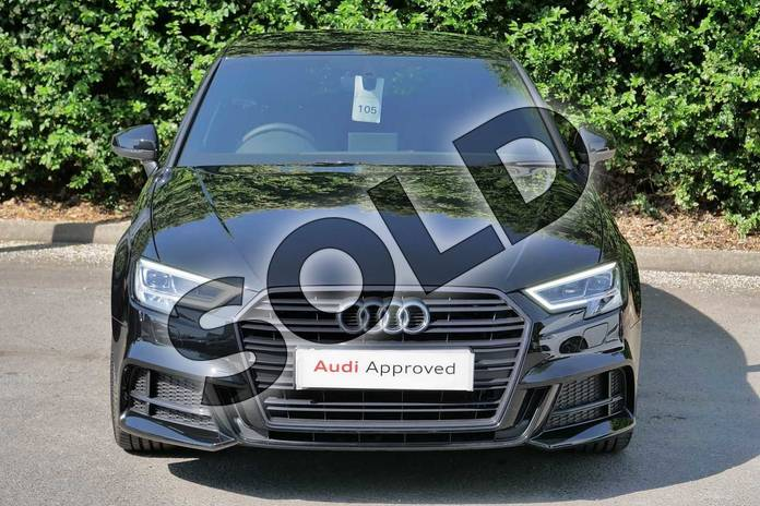 Image seven of this 2019 Audi A3 Diesel Sportback Diesel 30 TDI 116 Black Edition 5dr in Myth Black Metallic at Worcester Audi