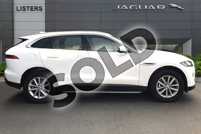 Image five of this 2019 Jaguar F-PACE Diesel Estate 2.0d Prestige 5dr Auto AWD in Fuji White at Listers Jaguar Droitwich