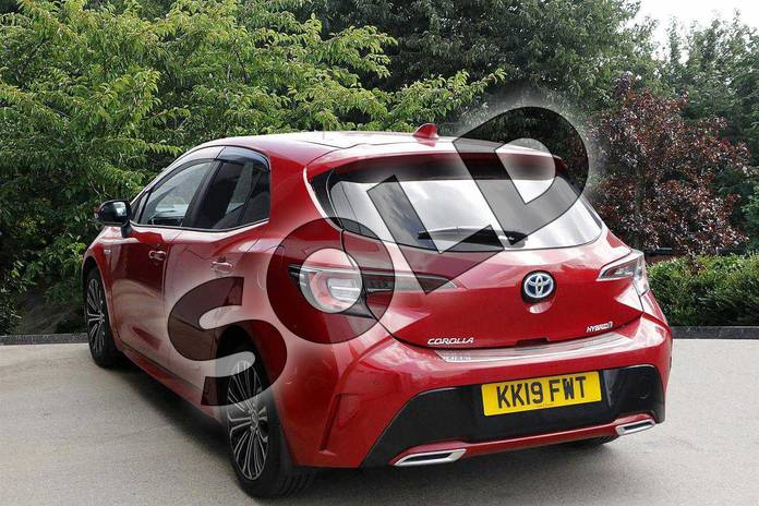 Image three of this 2019 Toyota Corolla Hatchback 2.0 VVT-i Hybrid Design 5dr CVT in Red at Listers Toyota Nuneaton