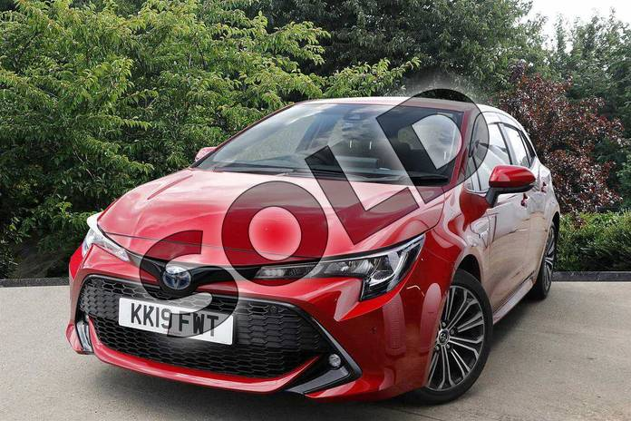 Image four of this 2019 Toyota Corolla Hatchback 2.0 VVT-i Hybrid Design 5dr CVT in Red at Listers Toyota Nuneaton