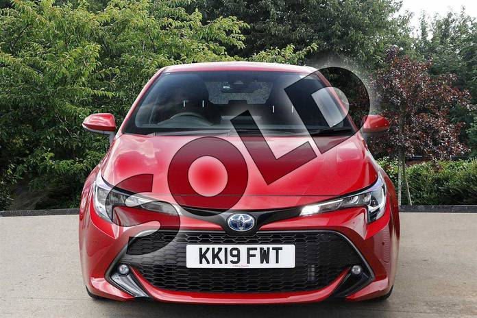 Image five of this 2019 Toyota Corolla Hatchback 2.0 VVT-i Hybrid Design 5dr CVT in Red at Listers Toyota Nuneaton