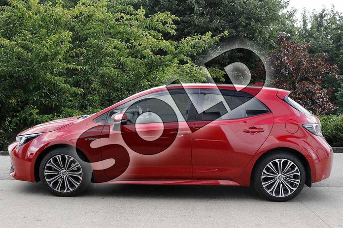 Image six of this 2019 Toyota Corolla Hatchback 2.0 VVT-i Hybrid Design 5dr CVT in Red at Listers Toyota Nuneaton