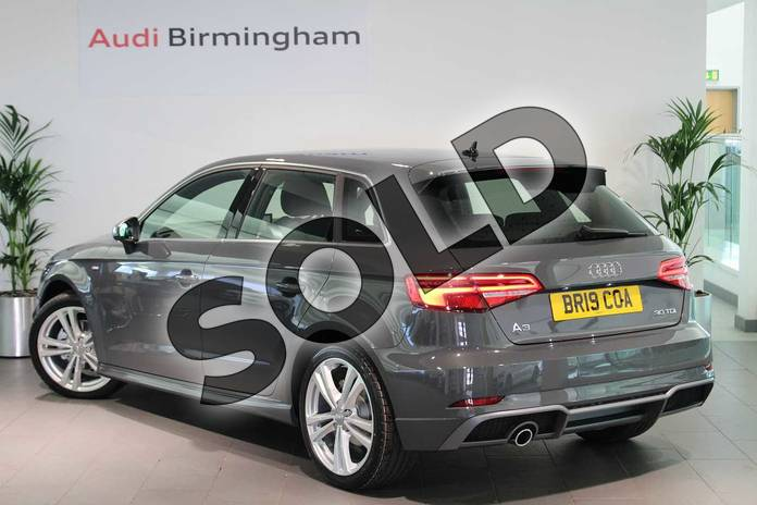 Image three of this 2019 Audi A3 Diesel Sportback Diesel 30 TDI 116 S Line 5dr S Tronic in Nano Grey Metallic at Birmingham Audi