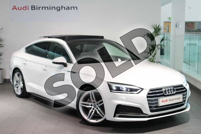 Picture of Audi A5 35 TFSI S Line 5dr S Tronic in Ibis White
