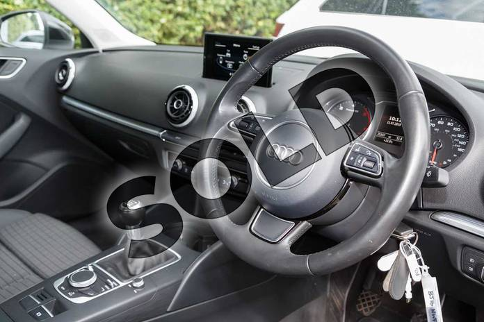 Image eight of this 2016 Audi A3 Diesel Saloon Diesel 2.0 TDI 184 Sport 4dr in Mythos Black, metallic at Worcester Audi