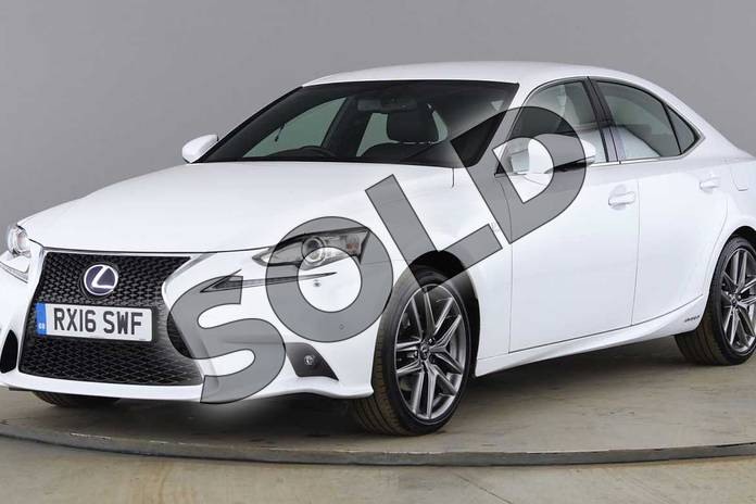 Image seventeen of this 2016 Lexus IS Saloon 300h F-Sport 4dr CVT Auto in F Sport White at Lexus Cheltenham