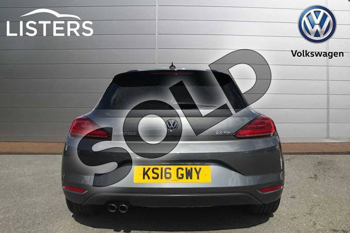 Image nine of this 2016 Volkswagen Scirocco Diesel Coupe Diesel 2.0 TDI BlueMotion Tech GT Black Edition 3dr in Indium Grey at Listers Volkswagen Stratford-upon-Avon