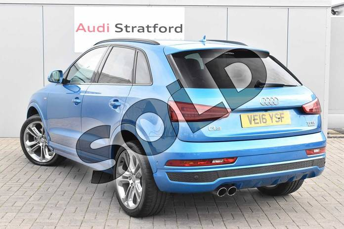 Image three of this 2016 Audi Q3 Estate Special Editions Special Editions 2.0T FSI Quattro S Line Plus 5dr S Tronic in Hainan blue, metallic at Birmingham Audi