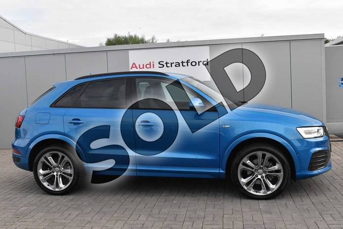 Image four of this 2016 Audi Q3 Estate Special Editions Special Editions 2.0T FSI Quattro S Line Plus 5dr S Tronic in Hainan blue, metallic at Birmingham Audi