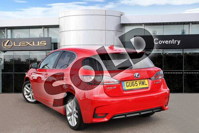 Image three of this 2015 Lexus CT Hatchback 200h 1.8 Advance 5dr CVT Auto in Fuji Red at Lexus Coventry