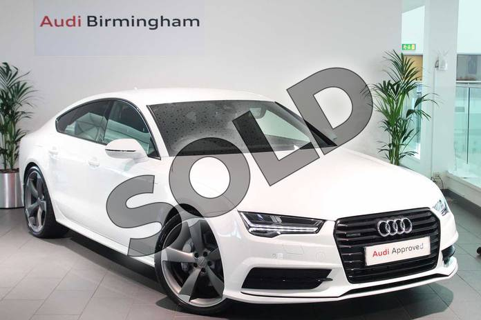 Picture of Audi A7 Special Editions 3.0 TDI Quattro 272 Black Edition 5dr S Tronic in Ibis White
