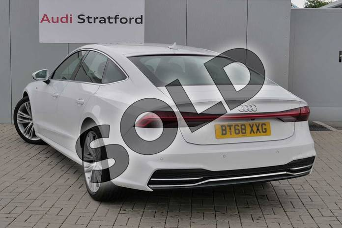 Image two of this 2018 Audi A7 Diesel Sportback Diesel 40 TDI S Line 5dr S Tronic in Ibis White at Stratford Audi