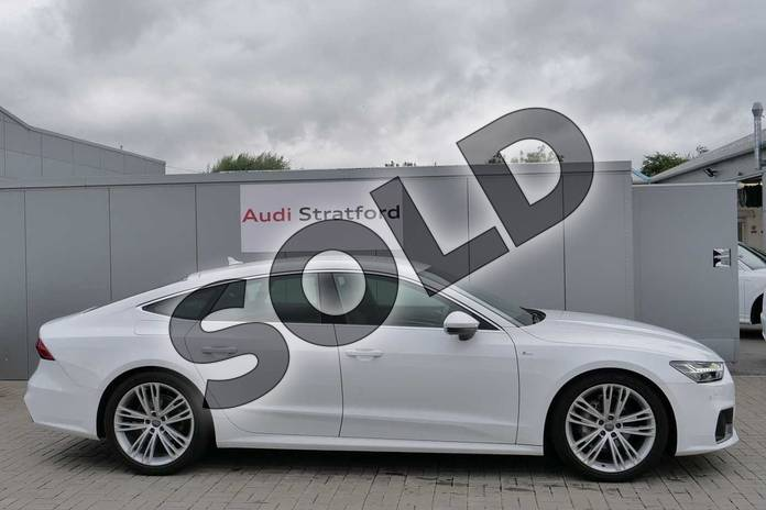 Image four of this 2018 Audi A7 Diesel Sportback Diesel 40 TDI S Line 5dr S Tronic in Ibis White at Stratford Audi