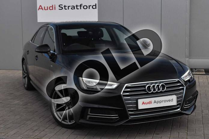 Picture of Audi A4 2.0T FSI S Line 4dr in Myth Black Metallic