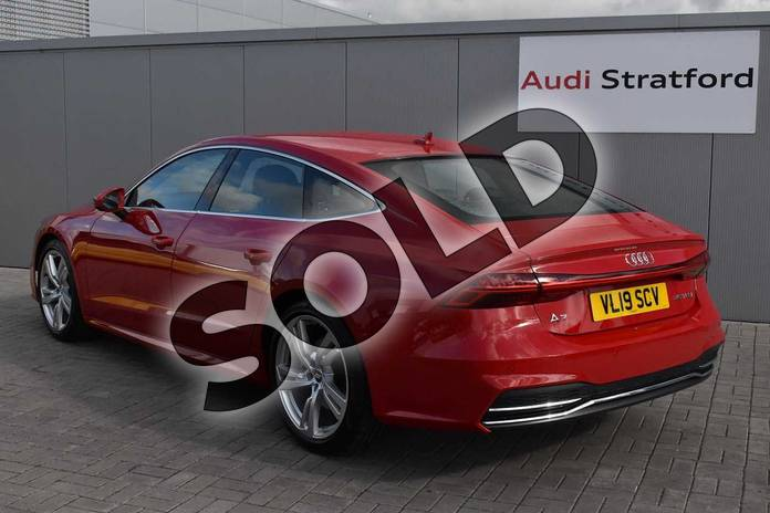 Image three of this 2019 Audi A7 Sportback 45 TFSI S Line 5dr S Tronic (Comfort+Sound) in Tango Red Metallic at Stratford Audi