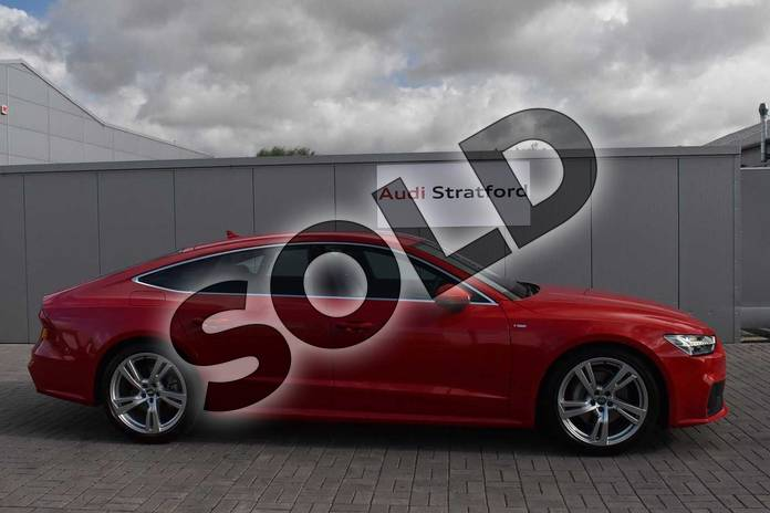 Image four of this 2019 Audi A7 Sportback 45 TFSI S Line 5dr S Tronic (Comfort+Sound) in Tango Red Metallic at Stratford Audi